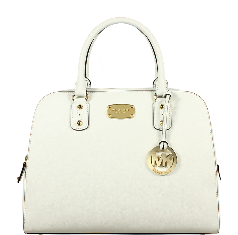 Michael Kors MD Tote Red Michael Kors LG Satchel White 60d0be62647